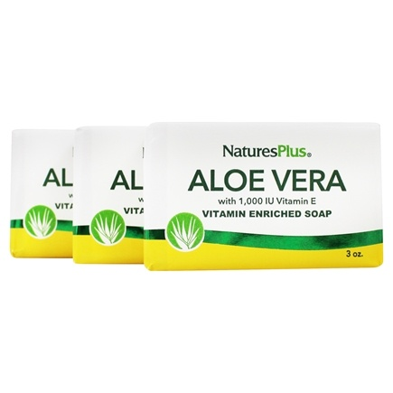 Nature's Plus - Aloe Vera Soap Lemon - 3 oz.