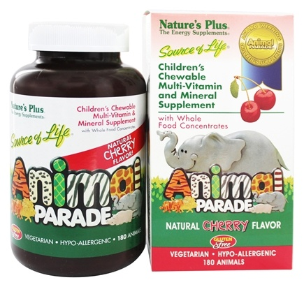 Nature's Plus - Animal Parade Children's Chewable Multi Cherry - 180 Chewable Tablets
