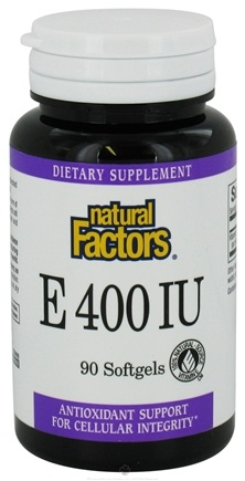 DROPPED: Natural Factors - Vitamin E 100% Natural Source 400 IU - 90 Softgels CLEARANCE PRICED