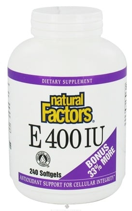 DROPPED: Natural Factors - Vitamin E 100% Natural Source 400 IU - 240 Softgels CLEARANCE PRICED
