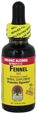 DROPPED: Nature's Answer - Fennel Seed Organic Alcohol - 1 oz. CLEARANCE PRICED
