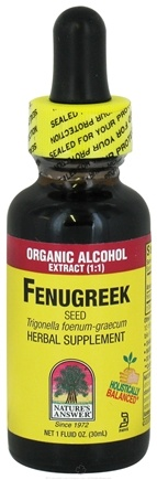 DROPPED: Nature's Answer - Fenugreek Seed Organic Alcohol - 1 oz. CLEARANCE PRICED