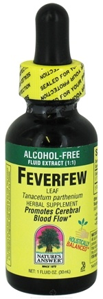 DROPPED: Nature's Answer - Feverfew Leaf Alcohol Free - 1 oz. CLEARANCE PRICED
