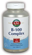 DROPPED: Kal - B-100 Compelex S.R. - 120 Tablets