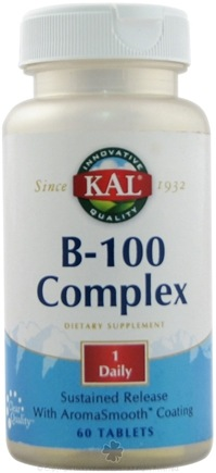 DROPPED: Kal - B-100 Complex S.R. - 60 Tablets