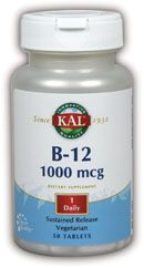 DROPPED: Kal - B12 Sustained Release 1000 mcg. - 50 Tablets