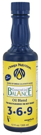 DROPPED: Omega Nutrition - Essential Balance Oil Blend 3-6-9 - 12 oz.