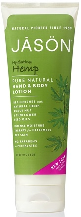 DROPPED: JASON Natural Products - Hand & Body Lotion Hemp Chanvre - 8 oz.