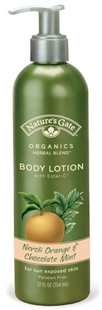 DROPPED: Nature's Gate - Body Lotion Organics with Ester C Neroli Orange & Chocolate Mint - 12 oz. CLEARANCE PRICED
