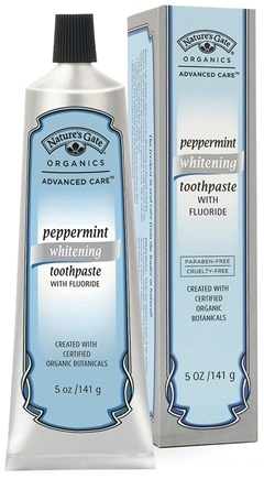 DROPPED: Nature's Gate - Peppermint Whitening Toothpaste with Flouride - 5 oz.