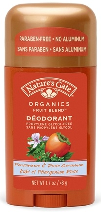 DROPPED: Nature's Gate - Deodorant Stick Organics Fruit Blend Persimmon & Rose Geranium - 1.7 oz. CLEARANCE PRICED