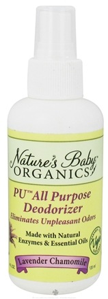 DROPPED: Nature's Baby Organics - Deodorizer Lavender Chamomile - 4 oz. formerly Lovely Lavender Deodorizer CLEARANCE PRICED