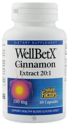 DROPPED: Natural Factors - WellBetX Cinnamon 150 mg. - 60 Capsules