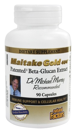 DROPPED: Natural Factors - Dr. Murray's Maitake Gold 404 Patented Beta-Glucan Extract 15 mg. - 90 Capsules