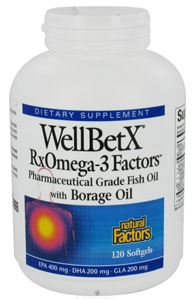 DROPPED: Natural Factors - WellBetX RxOmega-3 Factors with Borage Oil - 120 Softgels