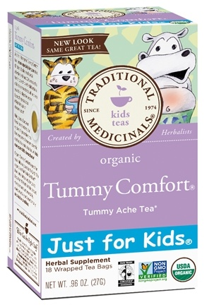 DROPPED: Traditional Medicinals - Just for Kids Organic Tummy Comfort Tea Tummy Ache Tea - 18 Bags CLEARANCE PRICED