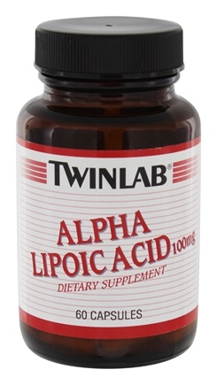 DROPPED: Twinlab - Alpha Lipoic Acid 100 mg. - 60 Capsules