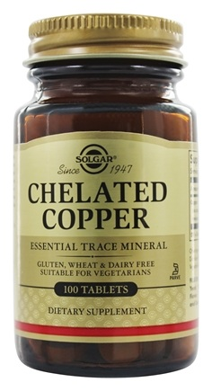 Solgar - Chelated Copper 2.5 mg. - 100 Tablets