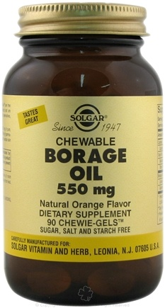 DROPPED: Solgar - Chewable Borage Oil Orange Flavor 550 mg. - 90 Chewable Gels