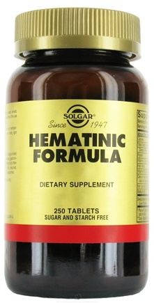 DROPPED: Solgar - Hematinic Formula - 250 Capsules CLEARANCE PRICED