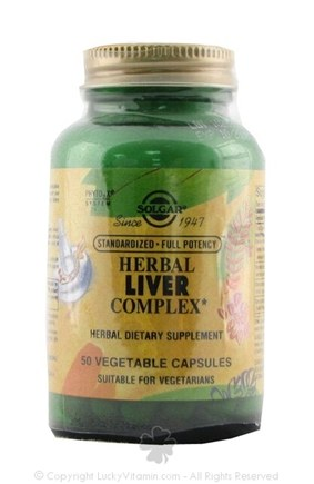 DROPPED: Solgar - Herbal Liver Complex - 50 Vegetarian Capsules