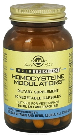 DROPPED: Solgar - Gold Specifics Homocysteine Modulators - 60 Vegetarian Capsules