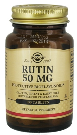 DROPPED: Solgar - Rutin Protective Bioflavonoid 50 mg. - 100 Tablets CLEARANCE PRICED