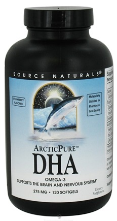DROPPED: Source Naturals - ArcticPure DHA Strawberry Flavored 275 mg. - 120 Softgels CLEARANCE PRICED