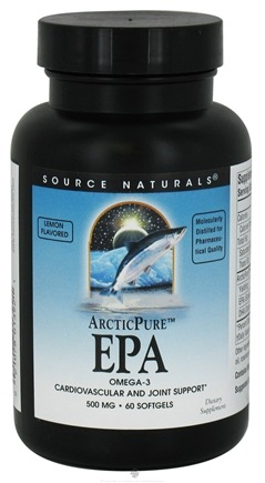 DROPPED: Source Naturals - ArcticPure EPA Omega-3 Lemon Flavored 500 mg. - 60 Softgels CLEARANCE PRICED