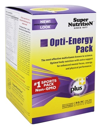 Super Nutrition - Opti-Energy Pack - 30 Packet(s)