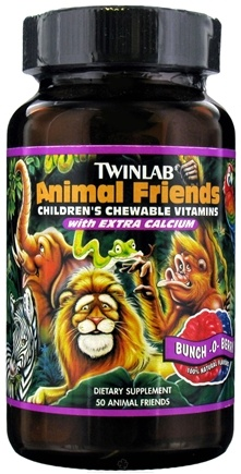 DROPPED: Twinlab - Animal Friends Children's Chewable Multi-Vitamins Bunch-O-Berry - 50 Chewable Tablets