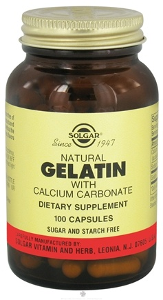 DROPPED: Solgar - Gelatin with Calcium Carbonate - 100 Capsules CLEARANCED PRICED