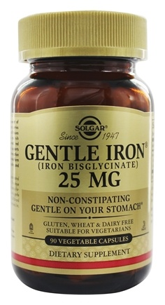 Solgar - Gentle Iron Non-Constipating - 90 Vegetarian Capsules