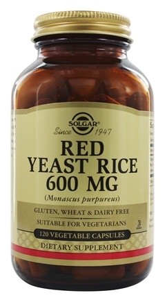 Solgar - Red Yeast Rice Vegetable Capsules 600 mg. - 120 Capsules