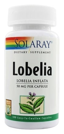 DROPPED: Solaray - Lobelia 50 mg. - 100 Capsules