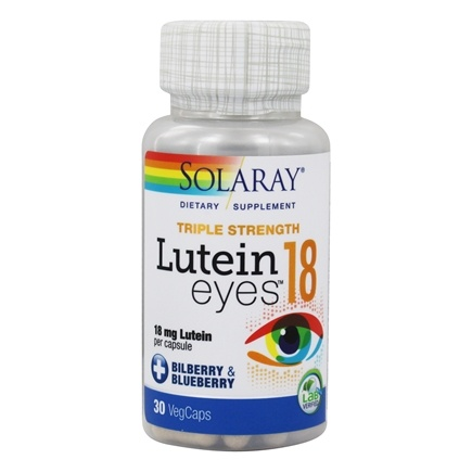DROPPED: Solaray - Lutein Eyes 18 mg. - 30 Capsules