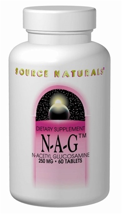 DROPPED: Source Naturals - NAG N-Acetyl Glucosamine 250 mg. - 120 Tablets