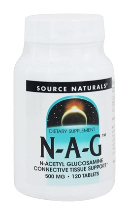 Source Naturals - N-A-G N-Acetyl Glucosamine 500 mg. - 120 Tablets
