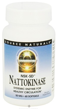 DROPPED: Source Naturals - Nattokinase 50 mg. - 60 Softgels