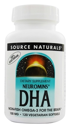 DROPPED: Source Naturals - Neuromins DHA 100 mg. - 120 Vegetarian Softgels DAILY DEAL
