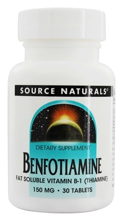 DROPPED: Source Naturals - Benfotiamine Fat Soluble Vitamin B1 150 mg. - 30 Tablets