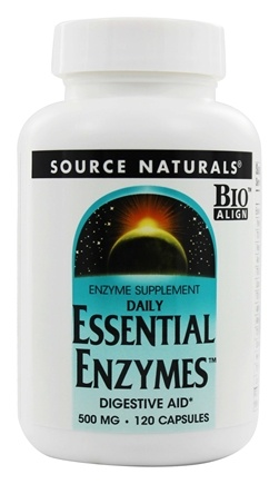 Source Naturals - Daily Essential Enzymes Digestive Aid 500 mg. - 120 Capsules