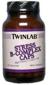 DROPPED: Twinlab - Stress B Complex Caps with Vitamin C - 50 Capsules