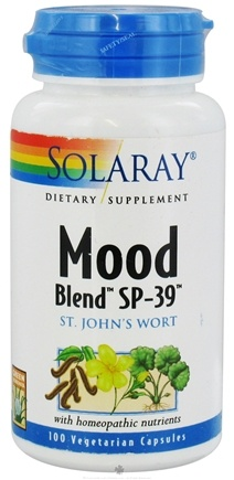DROPPED: Solaray - Mood Blend SP-39 Saint John's Wort - 100 Vegetarian Capsules CLEARANCE PRICED
