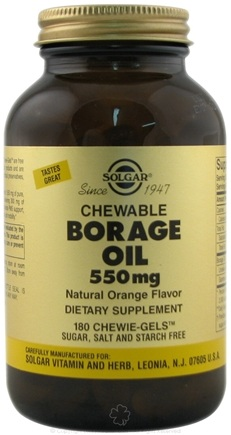 DROPPED: Solgar - Chewable Borage Oil Orange Flavor 550 mg. - 180 Chewable Gels