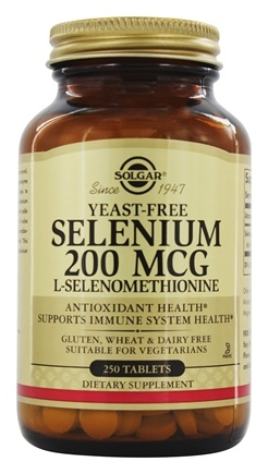Solgar - Selenium 200 mcg. - 250 Tablets Formerly Seleno 6