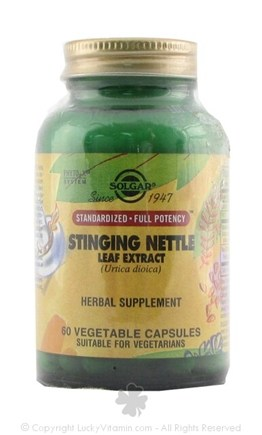 DROPPED: Solgar - Stinging Nettle Leaf Extract - 60 Vegetarian Capsules