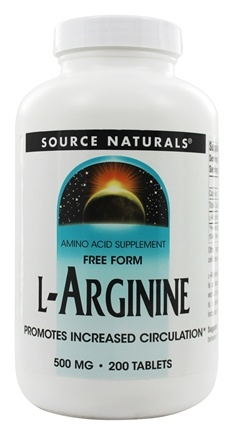 DROPPED: Source Naturals - L-Arginine Free Form 500 mg. - 200 Tablets