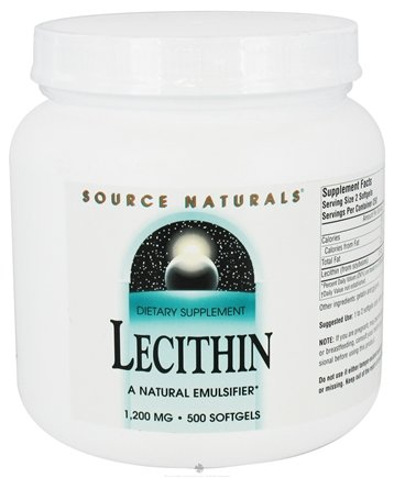 DROPPED: Source Naturals - Lecithin 1200 mg. - 500 Softgels