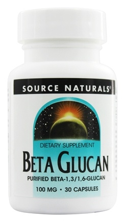 DROPPED: Source Naturals - Beta Glucan 100 mg. - 30 Capsules